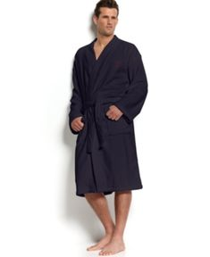 d4daa35af0 Polo Ralph Lauren Men s Sleepwear Soft Cotton Kimono Velour Robe - White S M