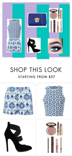 """""""A outfit"""" by grandpasgirl55 on Polyvore featuring beauty, Alexander McQueen, Charlotte Tilbury and Versace"""