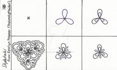 I used black and purple Sharpie Pens on a 3x5 note card. This pattern is my own, and I'm very proud of it! Note: I am always open to opinions, comments, critiques, and random thoughts. My work is m...