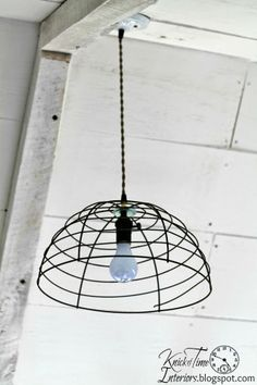DIY:: Industrial Farmhouse Hanging Lights Tutorial ! So Easy & Little to no Cost to Make !