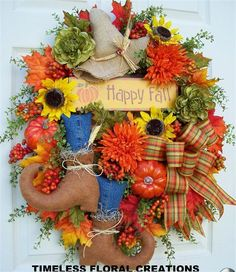 TIMELESS FLORAL CREATIONS - FALL AND AUTUMN WREATHS