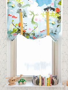 Craft a set of suspender curtains for a fashionable (and fast!) way to let some light into your child's bedroom.