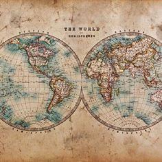 All Around Deco Vintage Non Woven Ψηφιακή Εκτύπωση - Χάρτες - Μοντέρνες - Ταπετσαρίες Τοίχου