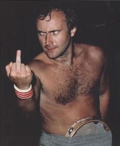"""trudymade: """" comaboy: """" anti-patterns: """" PHIL """" And all of a sudden, I love Phil (for a moment). """" """" Phil Collins - known for his unorthodox tambourine technique… Phil Collins, Peter Gabriel, 80s Music, Rock Music, In The Air Tonight, Tambourine, Rock N Roll, Concert, Celebrities"""