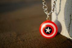 Captain America Bracelet | Capt. America's Shield by LettersByLilly on Etsy