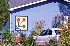 Triple Sunflower Barn Quilt in Morgan County, CO http://mcbarnquilts.blogspot.com/