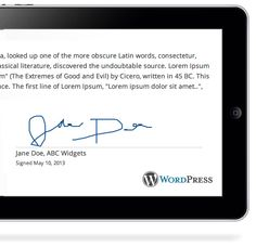 Sign Documents Online using Wordpress Digital E-signature software ...