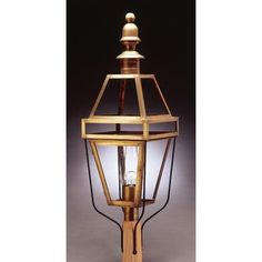 Northeast Lantern Boston 1 Light Lantern Head Finish: Raw Copper, Shade Type: Frosted