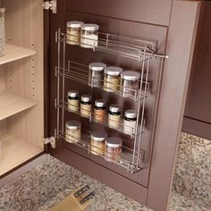 Spice Rack Ideas for Both Roomy or Cramped Kitchen and Other Rooms. Tags : Kitchen spice storage, Kitchen rack design and DIY storage ideas for kitchen.