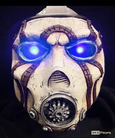 Deluxe Borderlands Custom Psycho Bandit Mask w/ LEDs by SKSProps