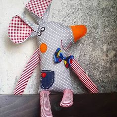 Handmade Rag Doll Soft Cloth Collectable Mouse Toy in Куклы и мягкие игрушки, Куклы, По материалу, Ткань | eBay