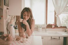 #Coffee At #Home #Inlove Owns #Espresso Italy #Italiancoffee #Kitchen #Morning #Nikonphotography #Vintage #woman