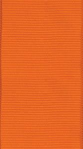 Grosgrain orange narrow Ribbon - 1 each