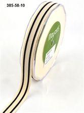 Show details for 16mm Organic Cotton Stripe BLACK