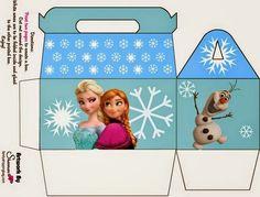 Frozen: Caja para Lunch para Imprimir Gratis.