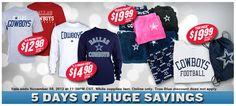2012 Black Friday Sales - Dallas Cowboys
