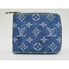 Louis Vuitton Blue Denim Monogram Compact Zippy Wallet- $399 #moshposh