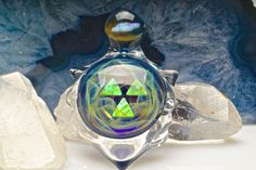 "Jolex x Northern Lights ""Space Cadet, Captain's Badge"" Pendant Collab  $615 at TheHeadyHive.com"