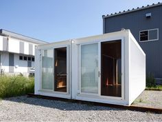 Shipping container houses for disaster relief housing.
