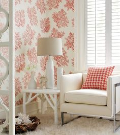 St Lucia wallpaper in Coral, by natural resource collection, Thibault
