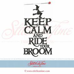 406 Halloween : Keep Calm And Ride Your Broom 6x10