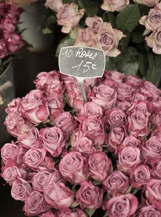 Such a lovely bunch of faded mauve roses.