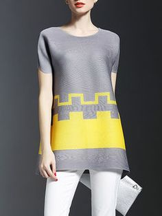 Color-block Ribbed Tunic