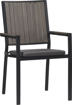 (6) Alfresco Grey Dining Chair with Sunbrella® Charcoal Cushion $156 | Crate and Barrel