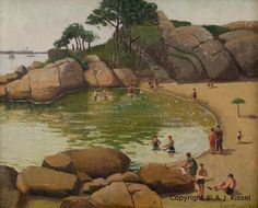 paintings of gloucester ma | Half Moon Beach can be reached on foot from the parking area by ...