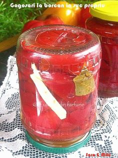 Gogosari la borcan in suc propriu ~ Culorile din farfurie Canning Recipes, Conservation, Preserves, Pickles, Cookie Recipes, Diy And Crafts, Candle Holders, Healthy Recipes, Healthy Food