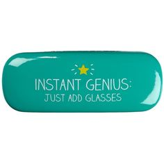 Happy Jackson Instant Genious Glasses Case ($14) ❤ liked on Polyvore featuring accessories and eyewear