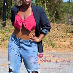 Bow halter crop top is a must have staple. Get yours in a dozen different colors today!