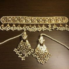 Latest Elegant Designer jewelry from India - Are you searching for quality traditional indian jewelry, indian jewelry set, plus order indian jewelry online,. Click Visit link for more info Indian Jewellery Online, Indian Jewellery Design, India Jewelry, Pearl Jewelry, Jewelry Design, Gold Jewelry, Designer Jewelry, Jewlery, Gold Necklaces