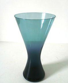50s Zwiesel Diabolo Vase H. Löffelhardt  22 cm mid century glass  annees 50
