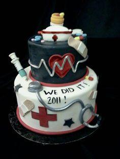 The Crimson Cake Blog: Nursing graduation cake