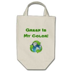Green Organic Reusable Tote Canvas Bag