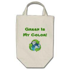 Green Organic Reusable Tote Canvas Bag