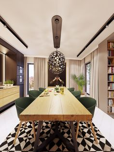 Modern Style Dining Room Feature Rich Decor In Family Friendly Apartment Luxury Dining Room, Dining Room Design, Dining Rooms, Interior Design Inspiration, Home Decor Inspiration, Decor Ideas, Futuristisches Design, Farmhouse Bedroom Decor, Skyfall