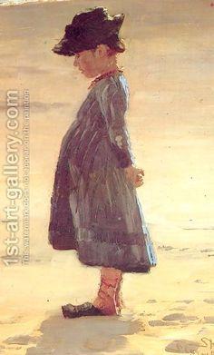 Peder Severin Kroyer:Nina en la playa