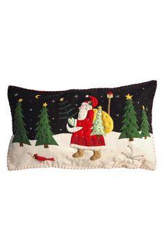 New World Arts Walking Santa Pillow