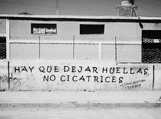 Hay que dejar huellas, No cicatrices #Acción Poética Villazón #accion