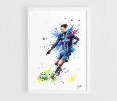 Zlatan Ibrahimovic PSG  A3 Art Prints of the Original by NazarArt, $15.00