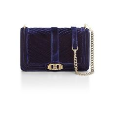 Rebecca Minkoff Velvet Love Crossbody ($275) ❤ liked on Polyvore featuring bags, handbags, shoulder bags, crossbody, moon, rebecca minkoff shoulder bag, velvet purse, rebecca minkoff handbags, chevron crossbody purse and quilted handbags