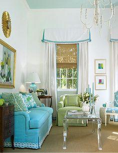 Blue Ceilings | Beach Decor | Seaside Inspired | Coastal Living | Decorating | Style | Design