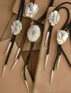 Sterling silver Bolo Ties by David Dear in Santa Fe, NM  daviddear.com