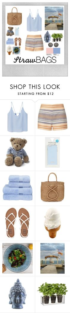 """Untitled #28"" by knockstyles on Polyvore featuring Polaroid, MANGO, Solid & Striped, Lexington, Skinnydip, Christy, ViX, Billabong, Dibor and Surya"