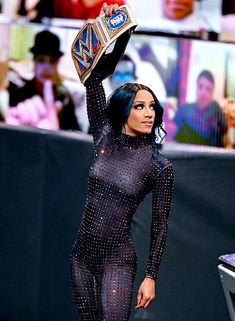 Wwe Sasha Banks, Cotton Candy Sky, Nia Jax, Wwe Female Wrestlers, Wrestling Divas, Wwe Womens, Becky Lynch, Superstar, Peplum Dress