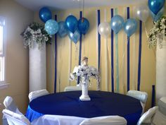Christening decoration and centerpieces made by www.designsbydazey.com