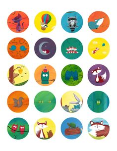 20 Forest Animal Stickers - Party Favors Forest Party, Label Paper, Forest Animals, Round Stickers, Small Groups, Squirrel, Party Favors, Woodland, Hedgehog
