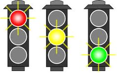 Timing Light Sequences: Build a Traffic Light Controller with an Arduino MEGA - Projects Traffic Light Sign, Green Traffic Light, Arduino, Childrens Sermons, Paper Games, Transportation Theme, Stop Light, Party Props, Worksheets For Kids